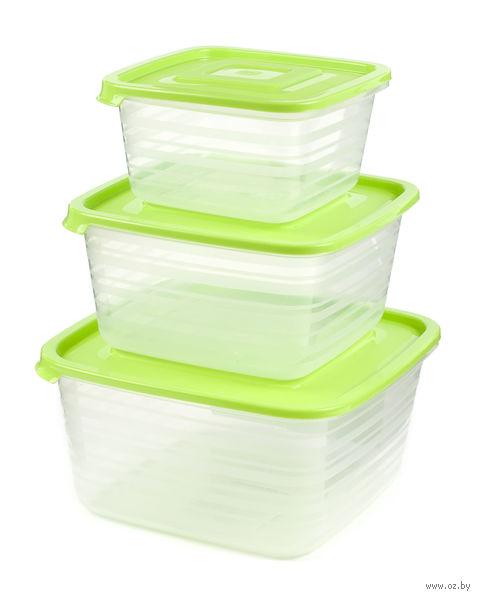 """Набор контейнеров для продуктов """"Унико"""" (3 шт, 450/900/1400 мл)"""