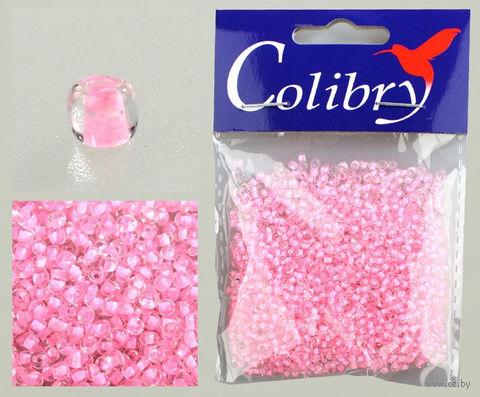 Бисер с цветным центром №45 (прозрачный/светло-розовый)