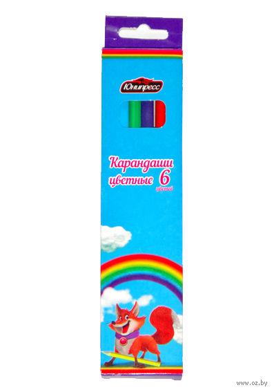 """Цветные карандаши """"Лисенок"""" (6 цветов)"""