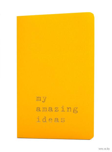"""Записная книжка Молескин """"Volant. My Amazing Ideas"""" нелинованная (карманная; мягкая желтая обложка)"""