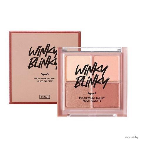 """Палетка теней для век """"Winky Blinky"""" тон: 02 — фото, картинка"""