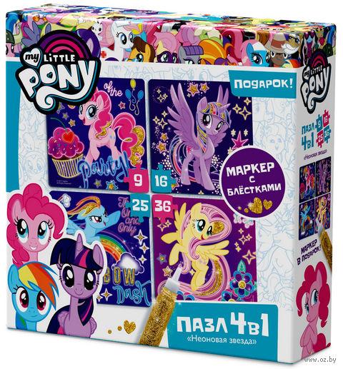 """Набор пазлов """"My Little Pony. Светящиеся Пони"""" (9+16+25+36 элементов) — фото, картинка"""