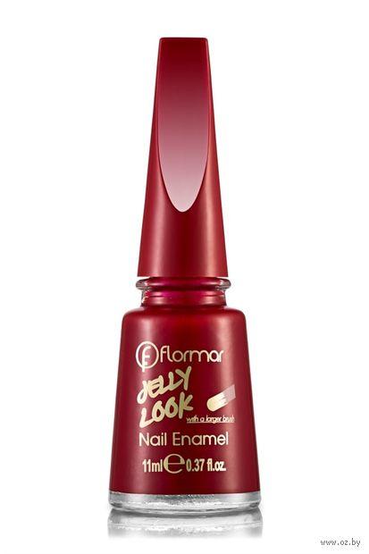 """Лак для ногтей """"Jelly Look Nail Enamel"""" (тон: 05, fire red) — фото, картинка"""