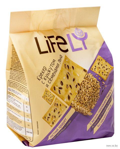 "Крекер ""Lifely. С кунжутом и семенами льна"" (180 г) — фото, картинка"