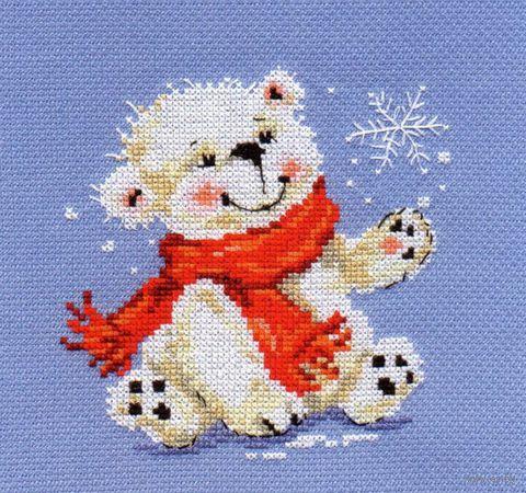 """Вышивка крестом """"Белый медвежонок"""""""