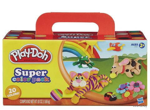 """Тесто для лепки """"Play-Doh"""" (20 цветов) — фото, картинка"""