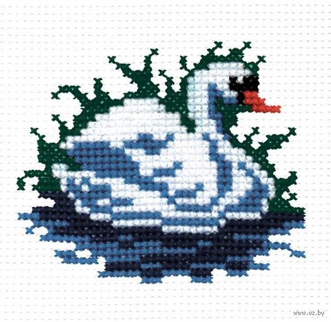 """Вышивка крестом """"Лебедь"""""""