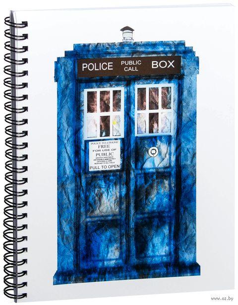 """Блокнот в клетку """"Доктор Кто. Тардис"""" (A5; арт. 010) — фото, картинка"""