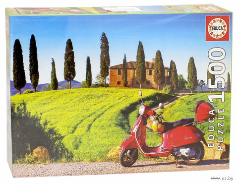 """Пазл """"Скутер в Тоскане"""" (1500 элементов) — фото, картинка"""