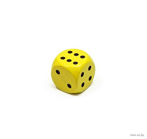 """Кубик D6 """"Эко-стиль"""" (жёлтый) — фото, картинка"""