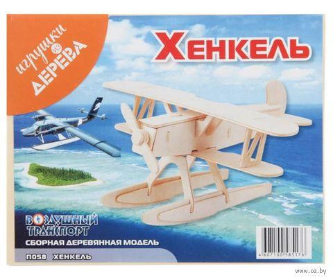 """Сборная деревянная модель """"Самолет Хенкель HE-51"""" — фото, картинка"""