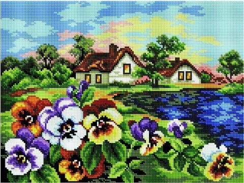 "Алмазная вышивка-мозаика ""Яркие краски лета"" (300х400 мм) — фото, картинка"