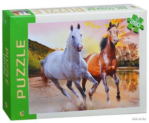 """Пазл """"Две лошади"""" (260 элементов) — фото, картинка"""