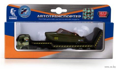 """Игровой набор """"Автотранспортер военный с лодкой"""" (арт. SB-16-30-M) — фото, картинка"""