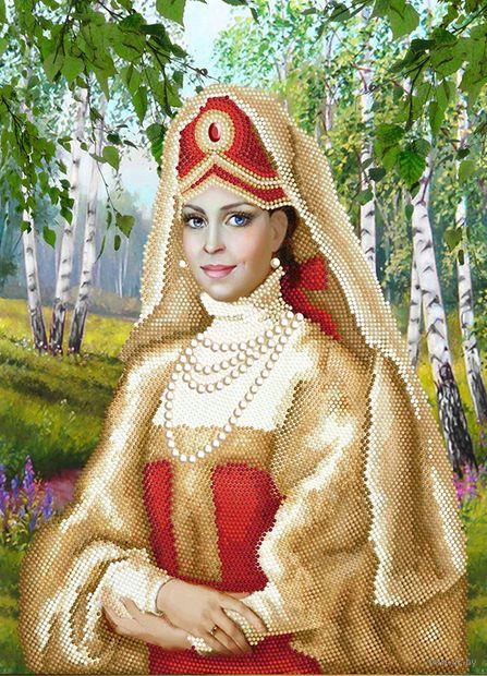 """Алмазная вышивка-мозаика """"Дама в кокошнике"""" (500х360 мм) — фото, картинка"""