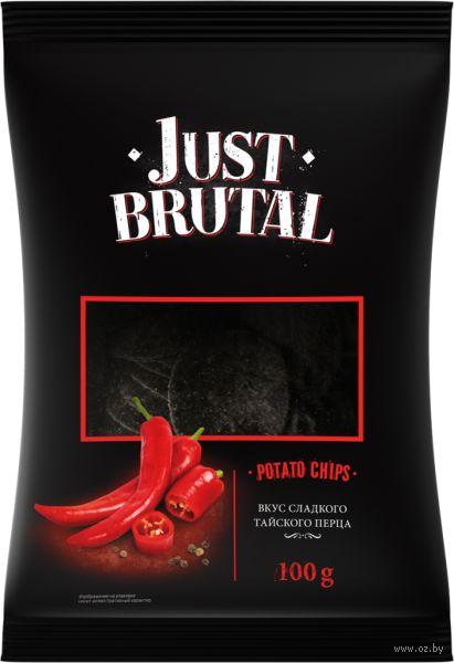 """Чипсы картофельные """"Just Brutal. Со вкусом сладкого тайского перца"""" (100 г) — фото, картинка"""