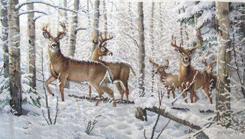 "Вышивка крестом ""Зима в лесу"" (арт. DMS-35130)"