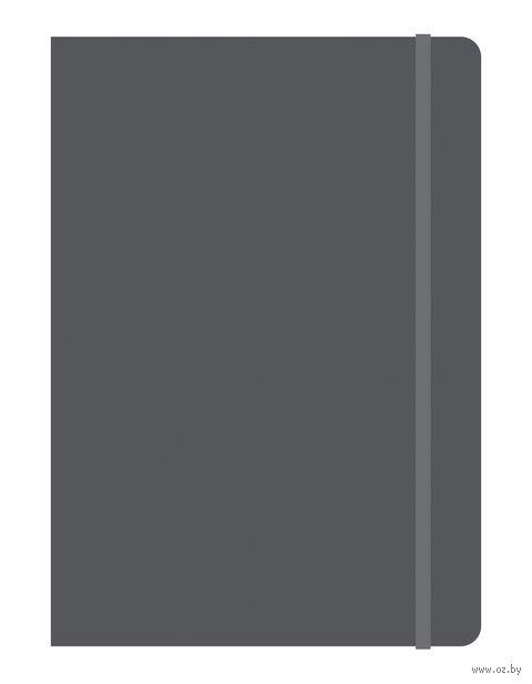 """Блокнот в клетку """"Elements"""" (B5; серый) — фото, картинка"""