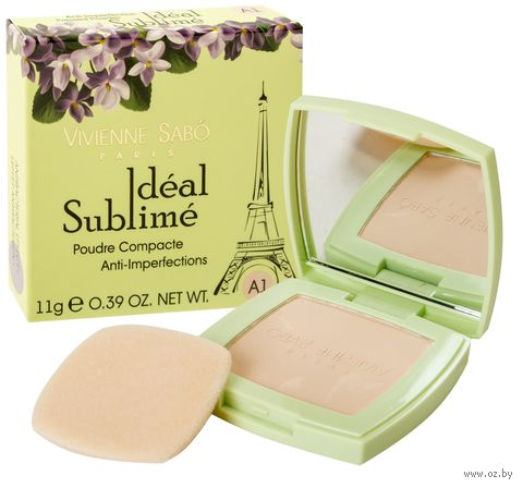 "Компактная пудра для лица ""Ideal Sublime"" (тон: А1) — фото, картинка"