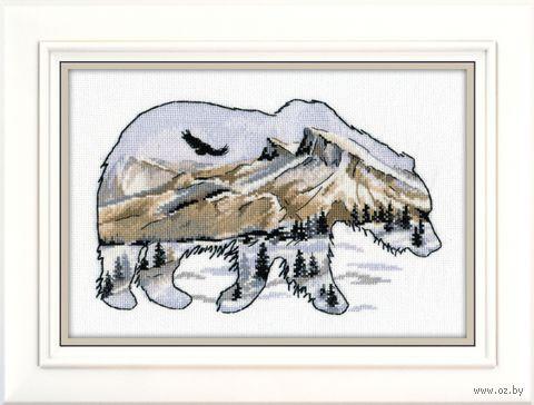"""Вышивка крестом """"Мир животных. Медведь"""" (250х170 мм) — фото, картинка"""