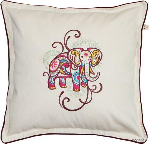 "Подушка ""Слон Мехенди"" (48x48 см; арт. 01-607) — фото, картинка"