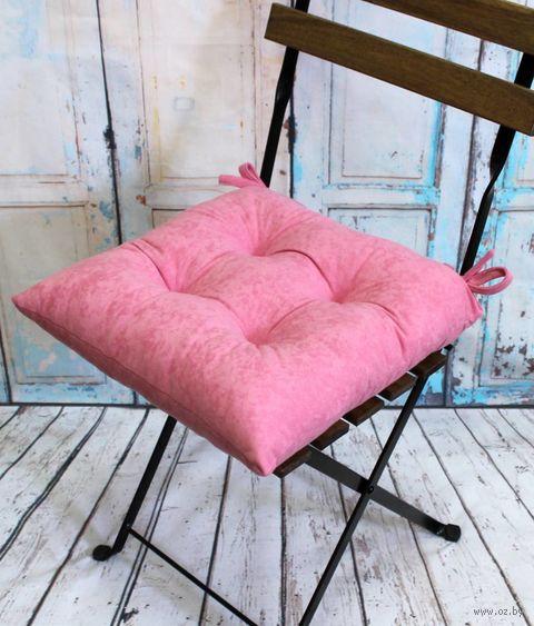 """Подушка на стул """"Velours"""" (42х42 см; светло-розовая) — фото, картинка"""