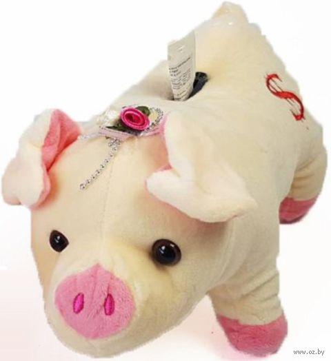 """Мягкая игрушка-копилка """"Свинка"""" (28 см) — фото, картинка"""
