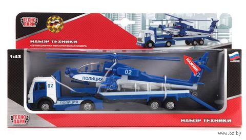"""Игровой набор """"Полиция"""" (масштаб: 1/43; трейлер и вертолет)"""