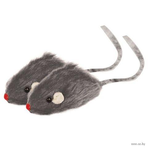 """Игрушка для кошек """"Мышь серая"""" (4 шт.) — фото, картинка"""