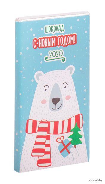 """Шоколад молочный """"Новый год. Мишка"""" (50 г) — фото, картинка"""