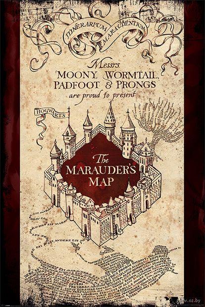 "Постер ""Harry Potter. The Marauders Map"" — фото, картинка"