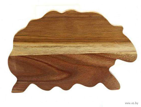 Доска разделочная деревянная (285х190х13 мм) — фото, картинка