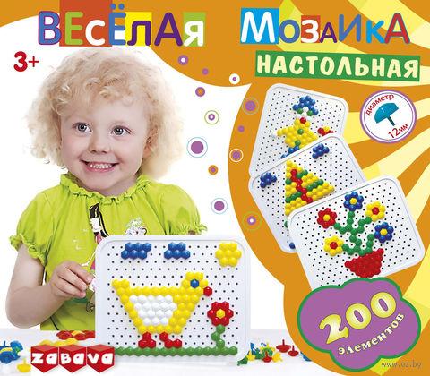 """Мозаика """"Веселая мозаика"""" (200 элементов; арт. 12124)"""
