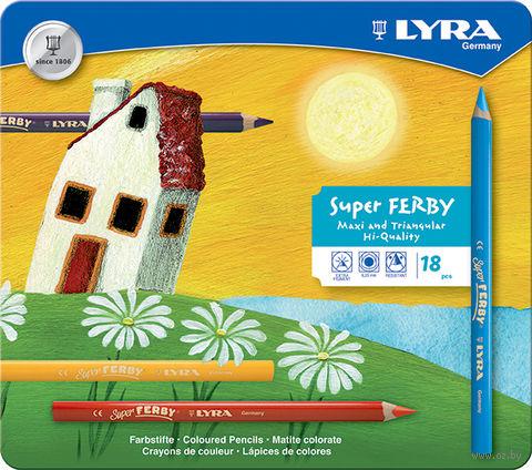 "Цветные карандаши ""SUPERFERBY"" (18 цветов)"