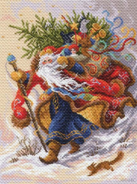 "Канва с нанесенным рисунком ""Дед Мороз"""