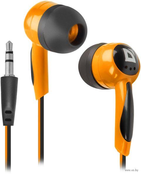 Наушники Defender Basic 604 (черно-оранжевые) — фото, картинка