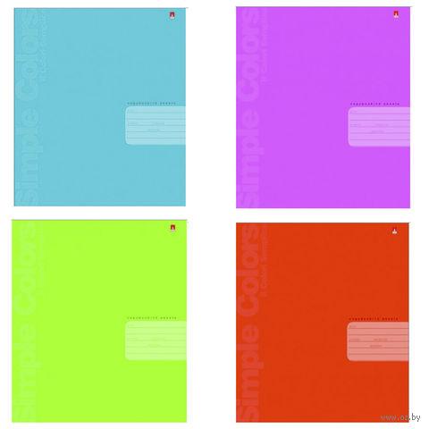 """Тетрадь в клетку """"Простые цвета"""" (12 листов; в ассортименте) — фото, картинка"""