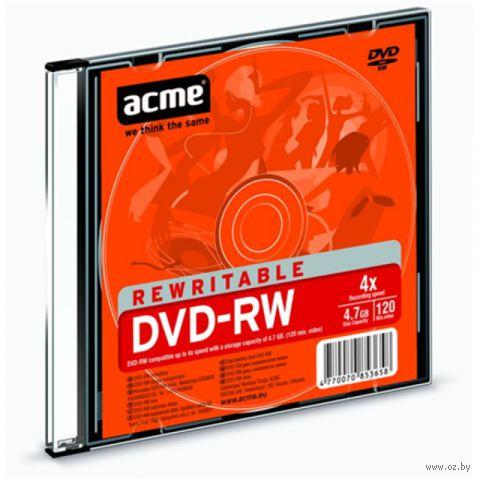 Диск DVD+RW 4,7GB 4x ACME (Slim case)