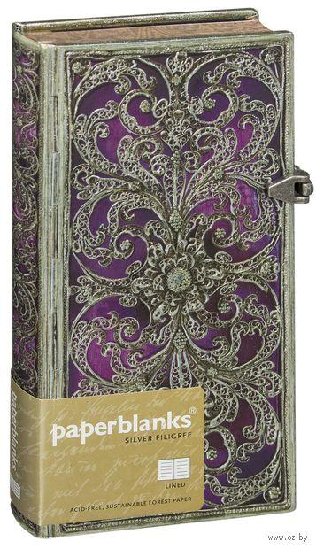 """Записная книжка Paperblanks """"Обержин"""" в линейку (формат: 90*180 мм, слим)"""