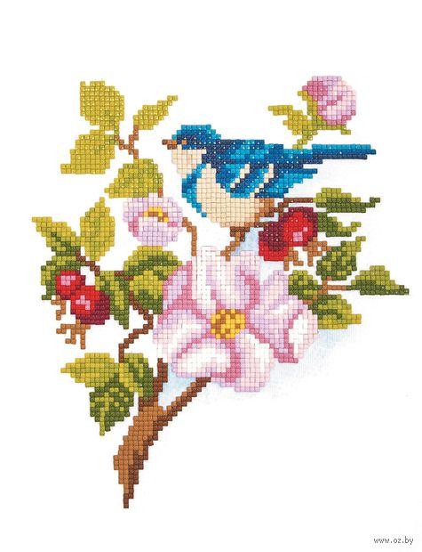 "Алмазная вышивка-мозаика ""Синяя птичка"" (250х200 мм) — фото, картинка"