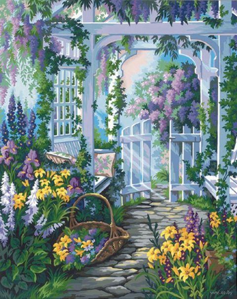 "Картина по номерам ""Садовая калитка"" (510х410 мм; арт. DMS-91140)"