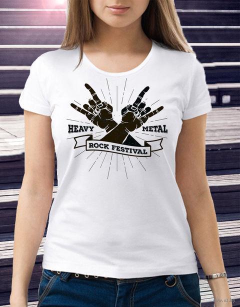 "Футболка женская ""Heavy Metal"" XL (art.3)"