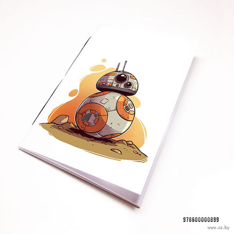 "Блокнот белый ""Звездные войны"" А7 (арт. 899)"