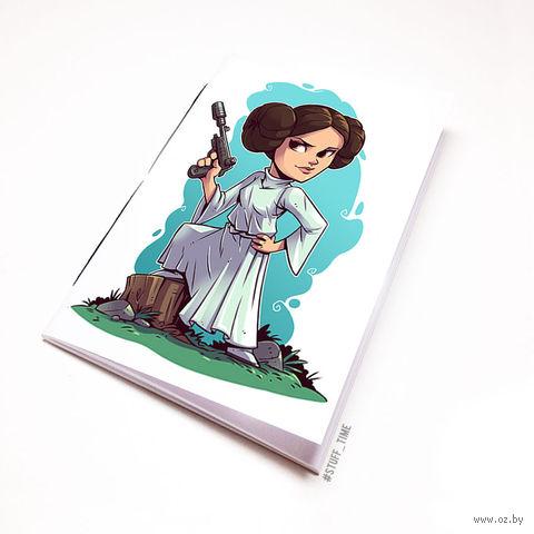 "Блокнот белый ""Звездные войны"" А5 (арт. 894)"