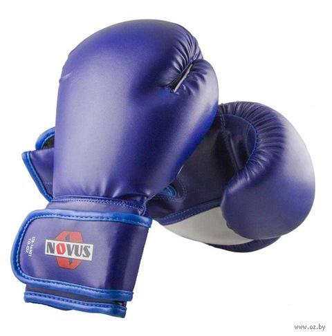 Перчатки боксёрские LTB-16301 (S/M; синие; 8 унций) — фото, картинка