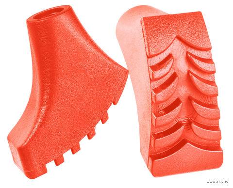 Комплект наконечников для скандинавских палок (2 шт.; оранжевый) — фото, картинка