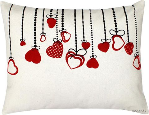 """Подушка """"Сердечки"""" (47x37 см; арт. 08-972) — фото, картинка"""