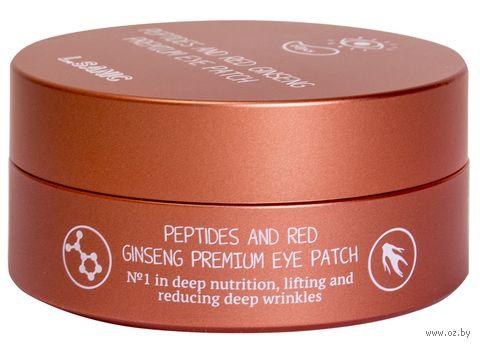 """Патчи для кожи вокруг глаз """"С пептидами и экстрактом красного женьшеня"""" (60 шт.) — фото, картинка"""