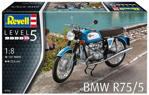 "Сборная модель ""Мотоцикл BMW R75/5"" (масштаб: 1/8) — фото, картинка"