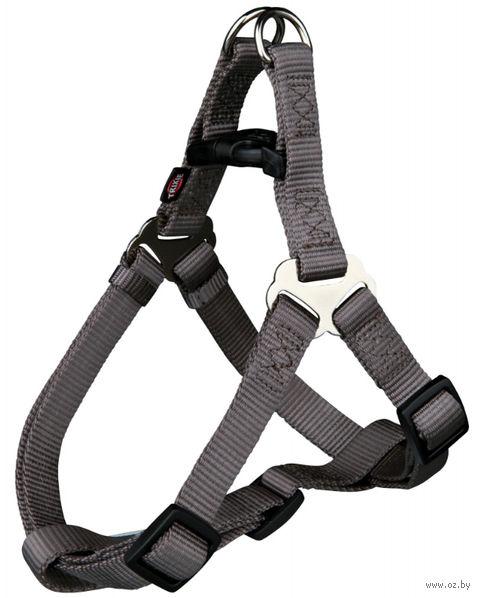 "Шлея для собак ""Premium Harness"" (размер XS-S; 30-40 см; серо-коричневый)"